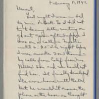 1942-02-11 Laura Davis to Lloyd Davis Page 1