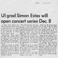 "1971-09-16 """"UI grad Simon Estes will open concert series Dec. 8"""""
