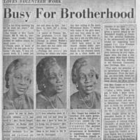 "Article: """"Busy For Brotherhood"""""