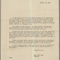 1970-10-19 Mrs. Betty Oney Announcement
