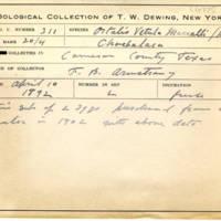 Thomas Wilmer Dewing, egg card # 840u