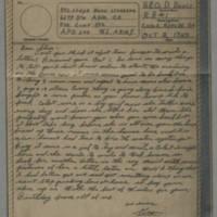 1943-10-02 Laura Davis to Lloyd Davis