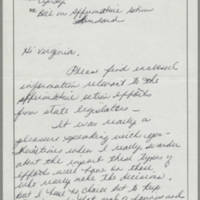1988-04-21 Memorandum to Ms. Virginia Harper from the State of Iowa