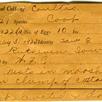 William F. Coultas, egg card # 008