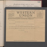 Telegram 12/25/1928