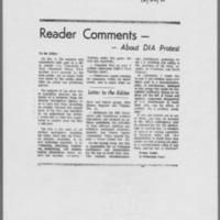 "1970-12-26 Iowa City Press-Citizen Editorial: Reader Comments -- About DIA Protest"""""