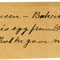 Clinton Mellen Jones, egg card # 035