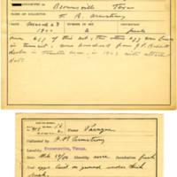 Thomas Wilmer Dewing, egg card # 313