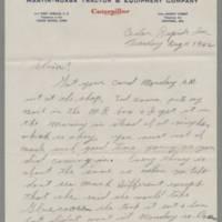1942-08-11 George Davis to Lloyd Davis Page 1