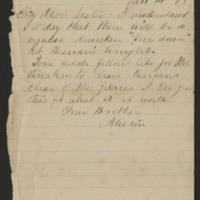 Letters to Ellen Mowrer Miller from Milton, 1878-1879