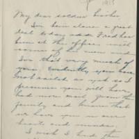 1918-01-28 Juliatta Reynolds to Conger Reynolds Page 1