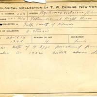Thomas Wilmer Dewing, egg card # 152