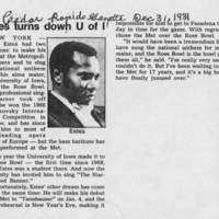 "1981-12-31 Estes turns down U of I"""""