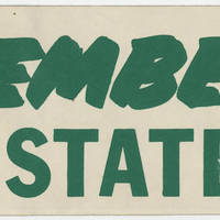 Bumper Sticker: Remember Kent State
