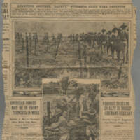 "1917-08-05 St. Paul Pioneer Press Clipping: """"American Forces May Be In Front Trenches In Week"""" Page 1"