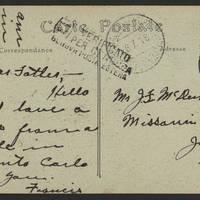 1918-07-08 Postcard - back
