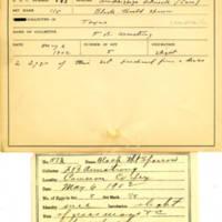 Thomas Wilmer Dewing, egg card # 729u