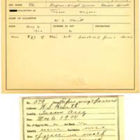 Thomas Wilmer Dewing, egg card # 458