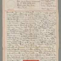 1943-03-24 Laura Davis to Lloyd Davis Page 1