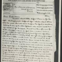 1945-02-19 John W. Graham to Mr. & Mrs. W.J. Graham Page 1