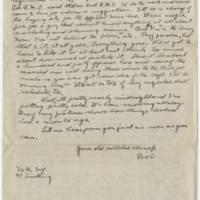 1917-11-26 Bob Browning to Karl Hoffman Page 2
