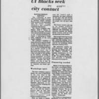 "1972-06-29 Daily Iowan Article: ""UI Blacks seek city contract"""