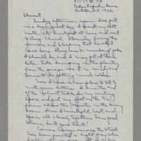 1942-10-25 Laura Davis to Lloyd Davis Page 1