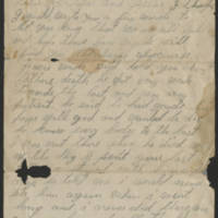 1895-08-17 Letter from Mary Bentley Page 1