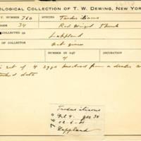 Thomas Wilmer Dewing, egg card # 837u