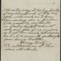 1917-10-11 Harvey Wertz to Miss Dorothy Wertz Page 3