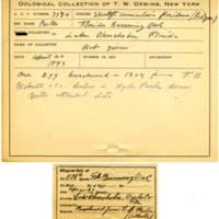 Thomas Wilmer Dewing, egg card # 264