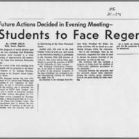"""1971-02-11 Daily Iowan Article: """"""""Students to Face Regents"""""""""""