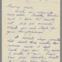 1943-04-05 Bessie Rector to Laura Frances Davis Page 1