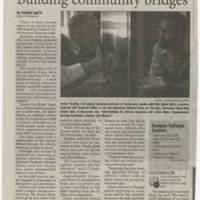 """2009-11-16 Daily Iowan Article: """"Building Community Bridges"""""""