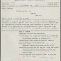 1966-06-16 NAACP Newsletter, Fort Madison Branch, Page 1