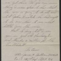1945-08-09 Pfc. James H. Batterson to Dave Elder