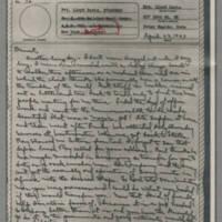 1943-04-22 Laura Davis to Lloyd Davis