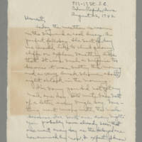 1942-08-22 Laura Davis to Lloyd Davis Page 1
