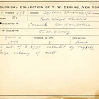 Thomas Wilmer Dewing, egg card # 672u