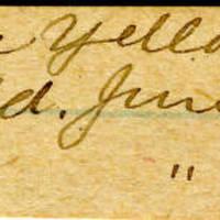 Clinton Mellen Jones, egg card # 323