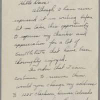 1945-10-12 Lt. G.B. Hughes to Dave Elder Page 1