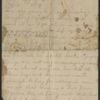 Letter from B.F. Page 1
