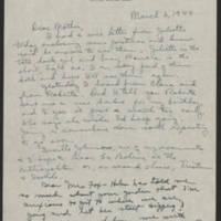 1944-03-03 Helen Fox to Bess Peebles Fox Page 1