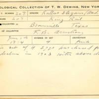 Thomas Wilmer Dewing, egg card # 154