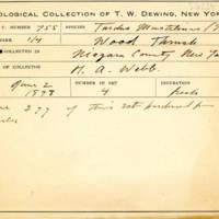 Thomas Wilmer Dewing, egg card # 829u