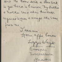 1919-04-22 Letter from Lizzie Wright Page 4