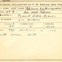 Thomas Wilmer Dewing, egg card # 084
