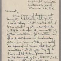 1941-12-22 Laura Davis to Lloyd Davis Page 1