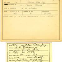 Thomas Wilmer Dewing, egg card # 379