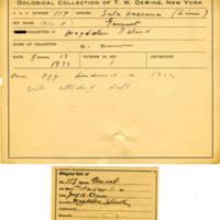 Thomas Wilmer Dewing, egg card # 071